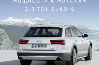 Моторы Audi 2.0 TDI EURO-6 получили пакеты мощности